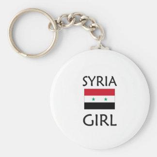 SYRIEN FLICKA RUND NYCKELRING