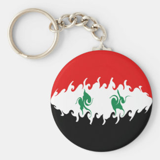 Syrien Gnarly flagga Rund Nyckelring