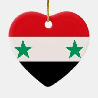 Syrien Hjärtformad Julgransprydnad I Keramik