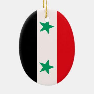 Syrien Ovalformad Julgransprydnad I Keramik