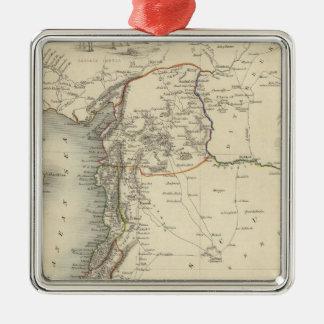 Syrien Silverfärgad Fyrkantigt Julgransprydnad