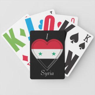 Syrien syriansk flagga spelkort