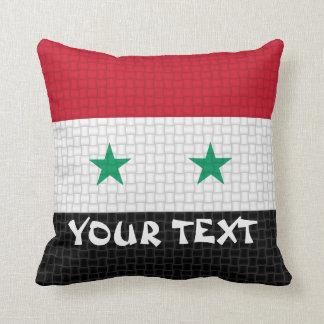 Syrien syriansk flagga: TILLFOGA TEXT Kudde