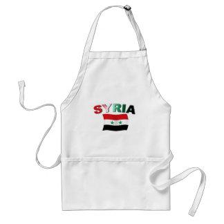 Syrien vågigt flagga förkläde