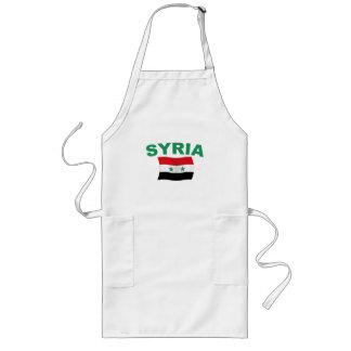 Syrien vågigt flagga - gröntbrev långt förkläde