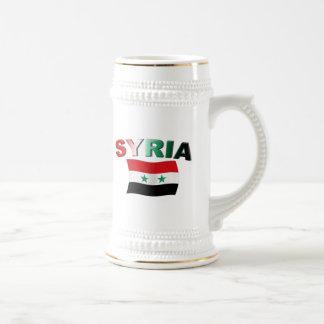 Syrien vågigt flagga sejdel