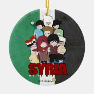 SYRIEN - vi är med dig Julgransprydnad Keramik