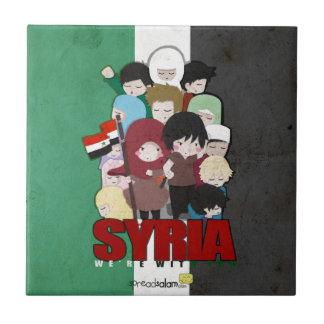 SYRIEN - vi är med dig Kakelplatta