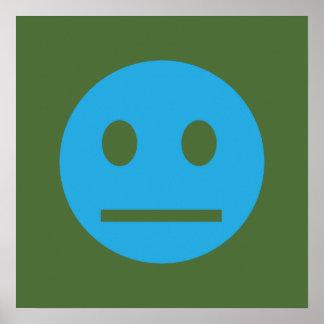 Syrlig affisch för grönt för generationSmileyblått Poster