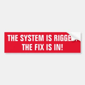 Systemet riggeds knipan är in! bildekal