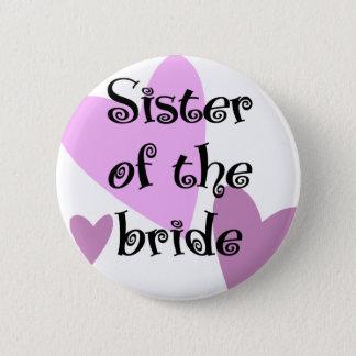 Syster av bruden standard knapp rund 5.7 cm
