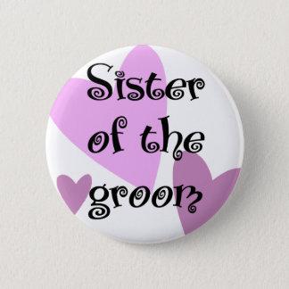 Syster av brudgummen standard knapp rund 5.7 cm