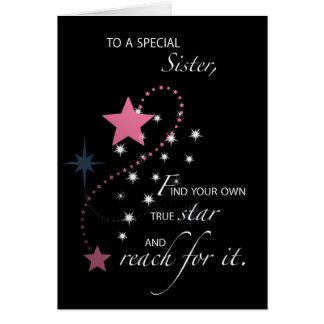 Syster studentenstjärnagrattis, rosor hälsningskort