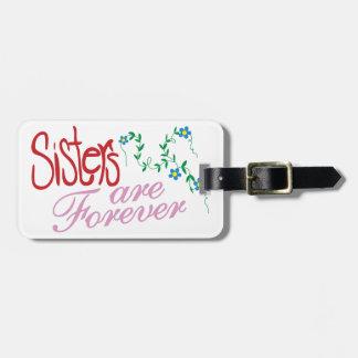 Systrar är för evigt bagagebricka
