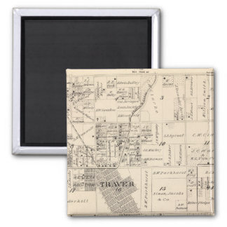 T17S R23E Tulare County delar upp kartan Magnet