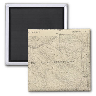 T2223S R3031E Tulare County delar upp kartan Magnet