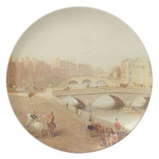 T34018 floden Liffey och lagdomstolarna, Dublin Dinner Plate