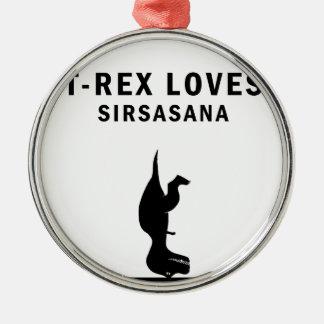 t-rex älskar sirsasaniana julgransprydnad metall