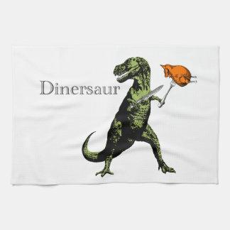T-Rex äter höna med knivar & dela sig: En Kökshandduk