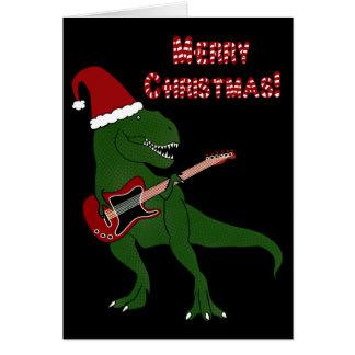 T-Rex gitarrjulkort Hälsningskort