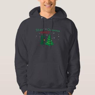 T-Rex hatar julhoodien Sweatshirt