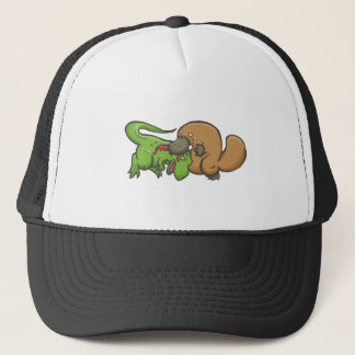 T-rex vs näbbdjur keps