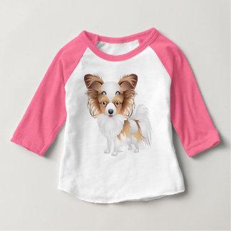 T-Skiten förtjusande Raglan för Papillon dräkt T Shirt