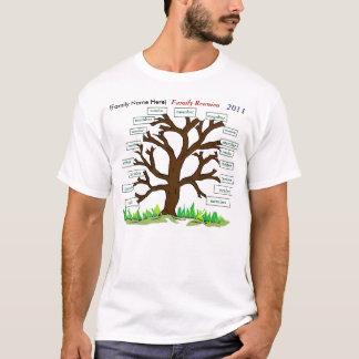 t-skjorta 2011 för familjmöteträd tee shirt