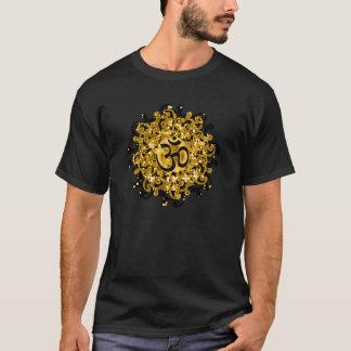 T-skjorta för buddismOm-symbol (svart/guld) Tröjor
