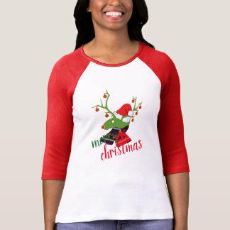 T-skjorta för design för god juldekorationren t-shirt