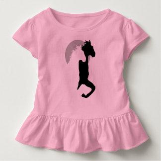 t-skjorta för flicka för hästspring tillsammans t-shirts