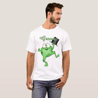 T-skjorta för grodaPrince Lycklig Ansa Bröllop T-shirts
