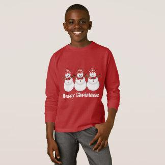 T-skjorta för helgdag för julsnögubbeungar rolig tee shirts