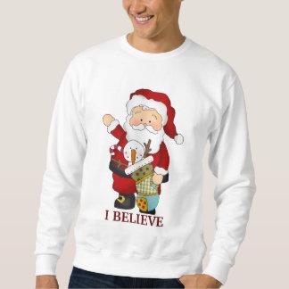 T-skjorta för julSanta helgdag Långärmad Tröja