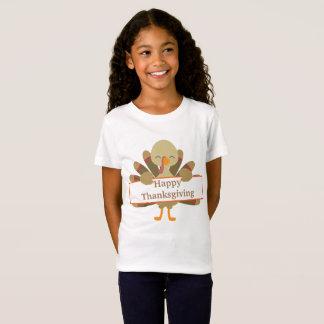 T-skjorta för kalkon för ungeanpassadethanksgiving t shirt
