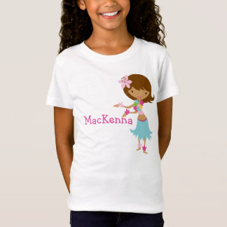 T-skjorta för Luau Hawaii flickapersonlig Tee