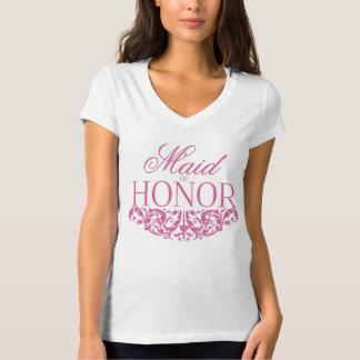 T-skjorta för maid of honort-skjorta bröllop rosor tee shirts