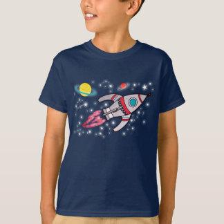 T-skjorta för marin för raketutrymmepojkar t-shirt