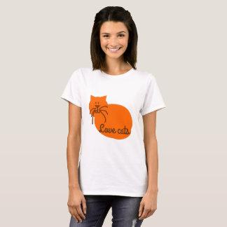 T-skjorta för orange för katt för tee shirts