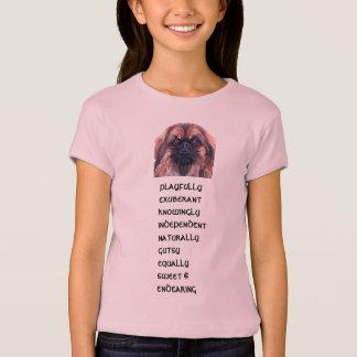 T-skjorta för Pekingese personlighetsflickor Tee Shirt