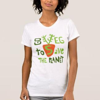 T-skjorta för slogan för text för Veg Vegan T Shirt