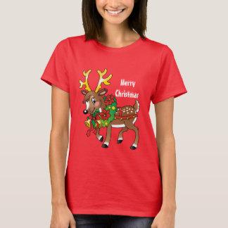 T-skjorta för tecknad för julrenhelgdag