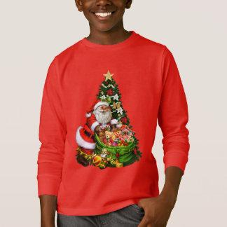 T-skjorta för ungar för julSanta helgdag Tee