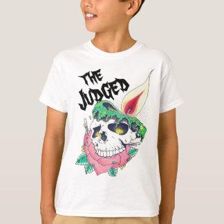 t-skjorta för ungar för skallestearinljus unisex- tee