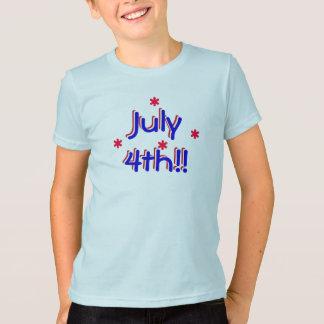 t-skjorta - Juli 4th (ungar)