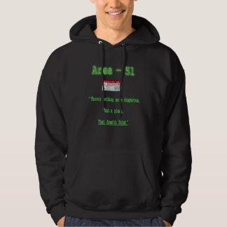 t-skjortor för område 51 sweatshirt med luva