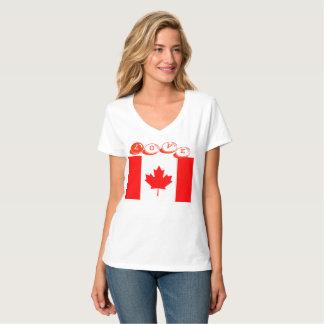 T-skjortor kärlek designade Kanada Tee Shirt