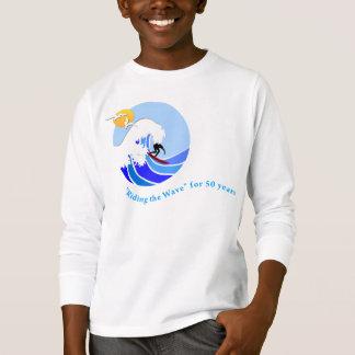 T-tröja (barn): långärmaden MLML vinkar (enkelt) T-shirts