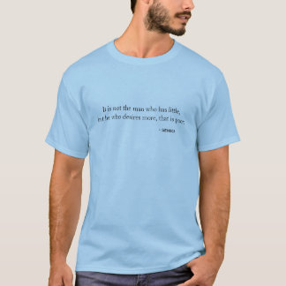 T-tröja - den giriga manen är fattig tröjor