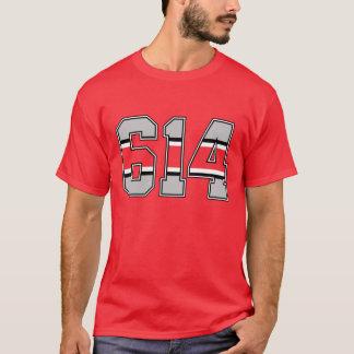 T-tröja för 614 riktnummer tee shirt